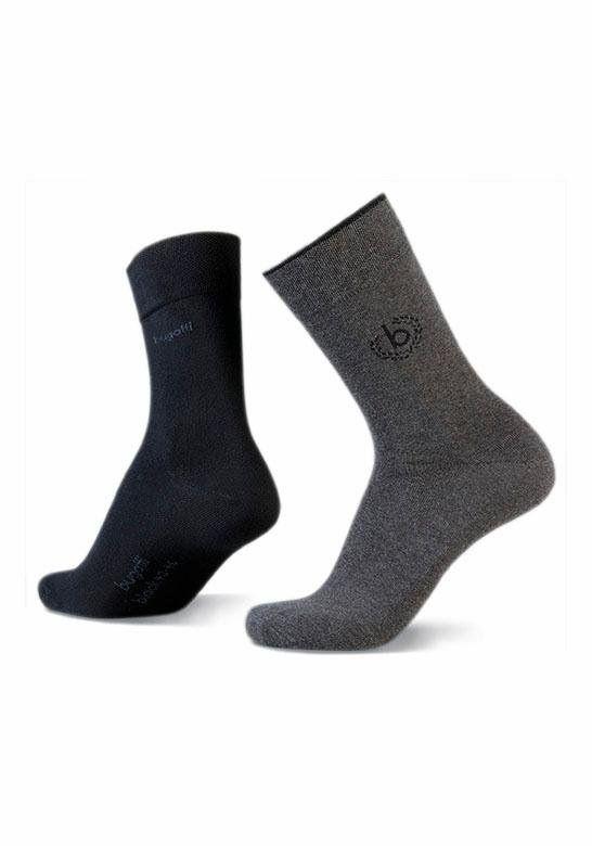 Bugatti Sokken 2-pack zwart en grijs